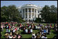 Guests sit on the South Lawn of the White House Tuesday, May 6, 2008, as President George W. Bush delivers remarks in celebration of Military Spouse Day, recognizing the impact spouses have on service members and honoring their volunteer service in educational, social and community endeavors. White House photo by Chris Greenberg