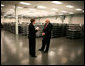 Marking the first day of mass production of economic stimulus checks, Vice President Dick Cheney tours the Philadelphia Regional Financial Center with Director Betty Belinsky, Thursday, May 8, 2008, in Philadelphia. White House photo by David Bohrer