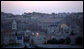 The sun rises Thursday, May 15, 2008, over the Old City of Jerusalem in this view taken from the King David Hotel. White House photo by Shealah Craighead