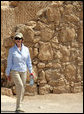 Mrs. Laura Bush visits Masada National Park Thursday, May 15, 2008, during a visit by she and President George W. Bush to Israel. White House photo by Shealah Craighead