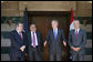 President George W. Bush stands with Iraqi leaders after their meeting Sunday, May 18, 2008, in Sharm El Sheikh, Egypt. With him from left are: Hoshyar Zebari, Foreign Minister, Vice President Abd al-Mahdi, and Deputy Prime Minister Barham Salih. White House photo by Chris Greenberg