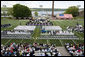 Commencement exercises for the U.S. Coast Guard Academy are held Wednesday, May 21, 2008 in New London, Conn., where Vice President Dick Cheney delivered the commencement address and presented commissions to graduates. White House photo by David Bohrer