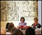 Mrs. Laura Bush and Slovenia's First Lady Barbara Miklic Turk attend the Za in Proti (ZIP) student event Tuesday, June 10, 2008 in Kranj, Slovenia. White House photo by Shealah Craighead
