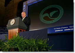 Vice President Dick Cheney delivers remarks to the Board of Directors of the U.S. Chamber of Commerce Wednesday, June 11, 2008, in Washington, D.C. White House photo by David Bohrer