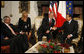 President George W. Bush and Italian Prime Minister Silvio Berlusconi shake hands as they meet Thursday, June 12, 2008, at the Villa Madama in Rome. White House photo by Eric Draper