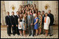 President George W. Bush stands with members of the University of North Carolina Field Hockey team, Tuesday, June 24, 2008, during a photo opportunity with the 2007 and 2008 NCAA Sports Champions. White House photo by Eric Draper