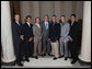 President George W. Bush stands with members of the UCLA Men's Golf team Tuesday, June 24, 2008, during a photo opportunity with the 2007 and 2008 NCAA Sports Champions. White House photo by Eric Draper