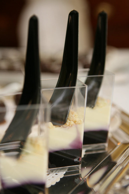 Desserts with a design flair were created by White House Executive Pastry Chef William Yosses for the 2008 Cooper-Hewitt National Design Awards buffet reception in the East Room on July 14, 2008. White House photo by Shealah Craighead