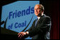 President George W. Bush delivers remarks at the 2008 Annual Meeting of the West Virginia Coal Association on Thursday, July 31, 2008 in White Sulphur Springs , W.Va. White House photo by Joyce N. Boghosian