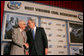 President George W. Bush greets Buck Harless, Chairman of the Board of International Industries Incorporated, Thursday, July 31, 2008 at the 2008 Annual Meeting of the West Virginia Coal Association in White Sulphur Springs, W.Va. White House photo by Joyce N. Boghosian