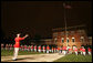 """The Commandants Own"" United States Marine Drum and Bugle Corps performs in the Evening Parade at the Marine Barracks Friday, Aug. 29, 2008, in Washington DC. Over 3,000 people attended the parade, including President and Mrs. Bush. White House photo by Joyce N. Boghosian"