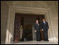 Vice President Dick Cheney and President of Azerbaijan Ilham Aliyev stand together Wednesday, Sept. 3, 2008, before their meetings at the Summer Presidential Palace in Baku, Azerbaijan. White House photo by David Bohrer