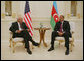 "Vice President Dick Cheney meets with President of Azerbaijan Ilham Aliyev Wednesday, Sept. 3, 2008, at the Summer Presidential Palace in Baku, Azerbaijan. Said the Vice President, ""The U.S. and Azerbaijan have many interests in common. We both seek greater stability, security and cooperation in the vital region of the world. We share the goal of energy security for ourselves and for the international community. And we are both devoted to the cause of peace."" White House photo by David Bohrer"