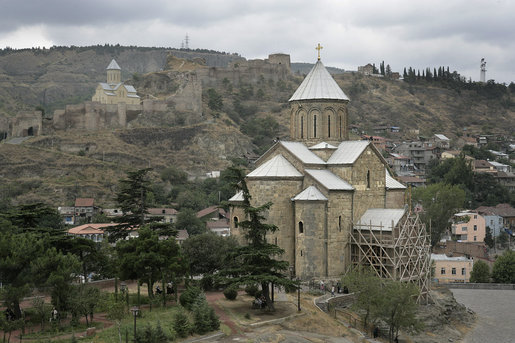 A view of Tbilisi, Georgia is seen Thursday, Sept. 4, 2008, where Vice President Dick Cheney met with Georgian President Mikheil Saakashvili to discuss U.S. support for the Georgian people following last month's war with Russia. The Vice President's visit comes a day after President Bush announced plans to deliver a $1 billion U.S. humanitarian and economic aid package to the country. White House photo by David Bohrer