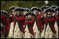 The Old Guard Fife and Drum Corps marches, Monday, Oct. 13, 2008, during the arrival ceremony of Italian Prime Minister Silvio Berlusconi to the White House. In support of the president, the Corps performs at all Armed Forces arrival ceremonies for visiting dignitaries and heads of state at the White House, and has participated in every Presidential Inaugural Parade since President John F. Kennedy's in 1961. White House photo by Andrew Hreha