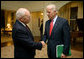 Vice President Dick Cheney bids farewell to Vice President-elect Joe Biden Thursday, November 13, 2008, following their nearly hour-long visit at the Vice President's Residence at the U.S. Naval Observatory in Washington, D.C. White House photo by David Bohrer