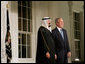 President George W. Bush greets Saudi Arabia King Abdullah bin Abdul Aziz Al Saud Friday, Nov. 14, 2008, upon his arrival for dinner with Summit on Financial Markets and World Economy Leaders. White House photo by Joyce N. Boghosian