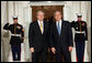 President George W. Bush greet Australia's Prime Minister Kevin Rudd Friday, Nov. 14, 2008, upon his arrival for dinner with Summit on Financial Markets and the World Economy Leaders at the White House. White House photo by Chris Greenberg