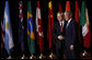 President George W. Bush welcomes Prime Minister Kevin Rudd of Australia, to the Summit on Financial Markets and the World Economy Saturday, Nov. 15, 2008, at the National Building Museum in Washington, D.C. White House photo by Eric Draper