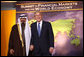 President George W. Bush welcomes Saudi Arabia King Abdullah bin Abdul Aziz Al Saud to the Summit on Financial Markets and the World Economy Saturday, Nov. 15, 2008, at the National Building Museum in Washington, D.C. White House photo by Chris Greenberg