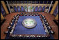 President George W. Bush and the G20 leaders and delegates attend the Summit on Financial Markets and the World Economy Saturday, Nov. 15, 2008, at the National Building Museum in Washington, D.C. White House photo by Joyce N. Boghosian