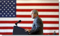 "President George W. Bush addresses the troops Tuesday, Nov. 25, 2008, during his visit to Fort Campbell, Ky. ""In Iraq, Afghanistan, and beyond, our men and women in uniform have done everything we have asked of them and more,"" said the President. ""You've earned the thanks of every American."" White House photo by Eric Draper"