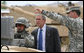 President George W. Bush participates in a demonstration at the U.S. Army National Training Center, April 4, 2007, at Fort Irwin, Calif. White House photo by Eric Draper