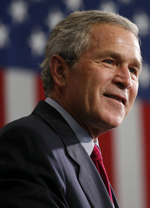 President George W. Bush delivers remarks Sept. 21, 2006, in Tampa, Fla. White House photo by Paul Morse