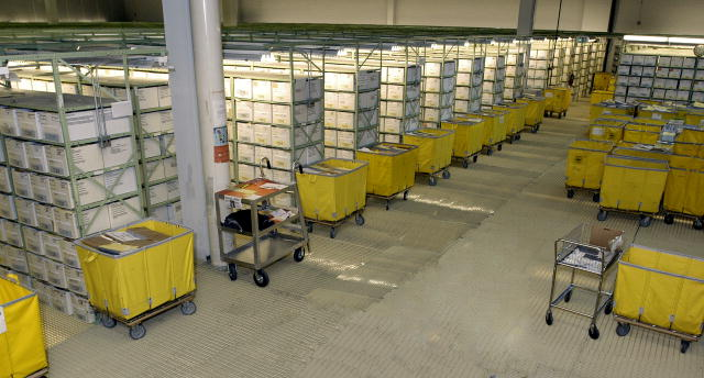 A picture of the Rolling Heights Megasite, which holds about five million disability case folders.  It is one of eight sites where SSA stores files.