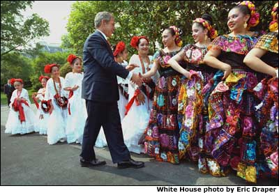 Comparative Essay Thesis Statement President George W Bush Greets Dancers Before Their Performance During  Cinco De Mayo Festivities At Topics For Synthesis Essay also Health Essay Writing Photo Seven We The People Photo Essay English Essays For High School Students