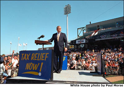 Essays In English President George W Bush Speaks About Tax Relief At Zephyr Field In New  Orleans Mental Health Essays also Essay On Science And Technology Photo Nine We The People Photo Essay Essay About Paper