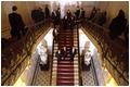 Guided by his host, President Putin, President Bush tours the gilded halls of the Hermitage in St. Petersburg May 25.