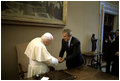 President Bush visits His Excellency Pope John Paul II at Vatican City May 28.