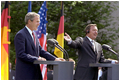 President George W. Bush and German Chancellor Schroeder conduct a joint press conference in Berlin May 23.