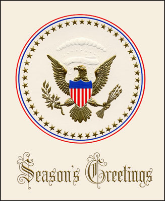 Seasons greetings from the white house seasons greetings card featuring the coat of arms m4hsunfo Choice Image