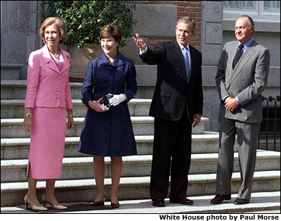 international discourse part iii photo essay president george w bush ed spain sweden and slovenia the
