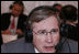Stephen J. Hadley, Assistant to the President for National Security Affairs, participates in an interview with a radio journalist during the White House Radio Day Tuesday, Oct. 24, 2006.
