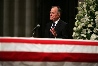 ... service at the National Cathedral in Washington, DC on June 11, 2004