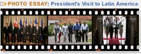 Link to President's Trip to Latin America Photo Essays