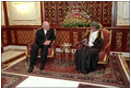 Vice President Dick Cheney meets with Sultan Qaboos in Salalah, Oman, March 14.