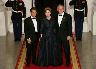 President Sarkozy Of France Visits The White House