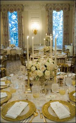 Dinner In Honor Of Her Majesty Queen Elizabeth Ii And His